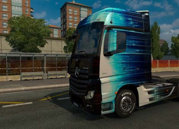 Mercedes MP4 2014 Abstract Lines Skin