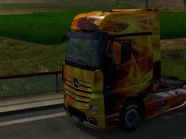 Mercedes MP4 2014 Man Fire Skin