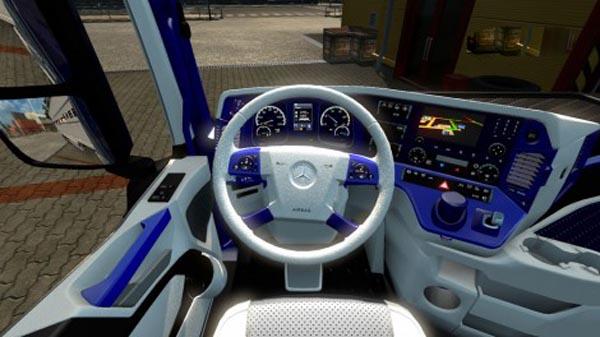 Mercedes MPIV White Blue Interior