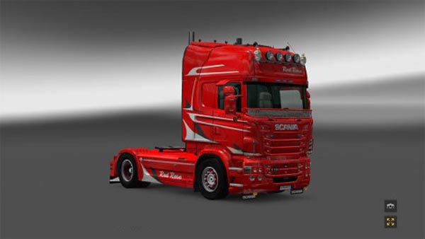 Red Rose Scania skin