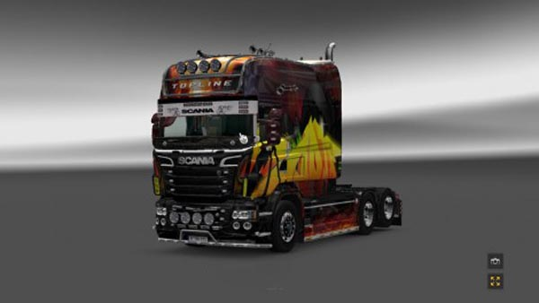 Scania Fire Skin