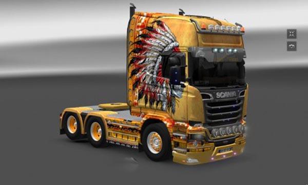 Scania R Skull Leader Skin