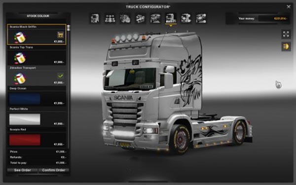 Scania RLJ Black Griffin Paintjob