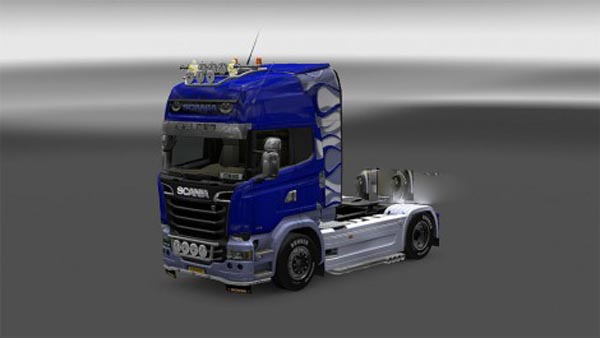 Scania Streamline blue tribal skin
