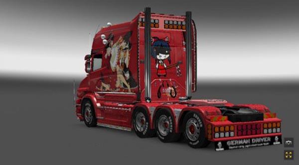 Scania T Reimu Hakurei Skin