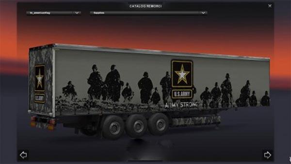 American Army trailer