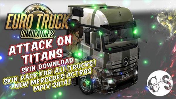 Attack on Titans Skin Pack for All Trucks