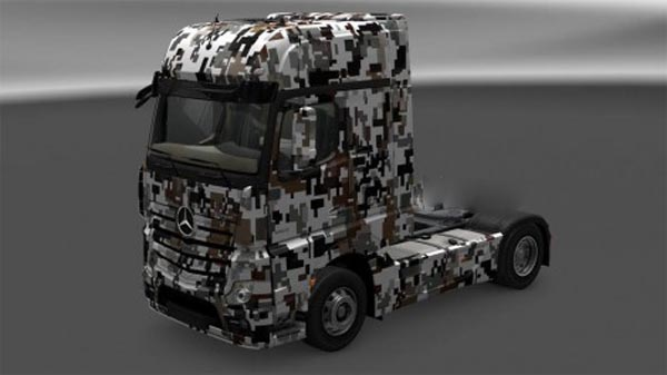 Camouflage for Mercedes Actros MP4