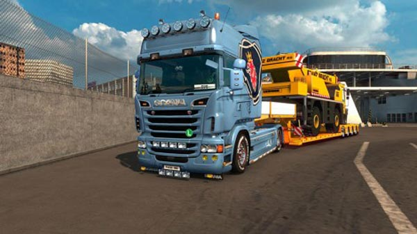 Side skirts v8 for scania r car tuning