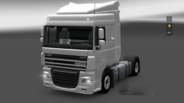 DAF XF Licence Plate Final Version