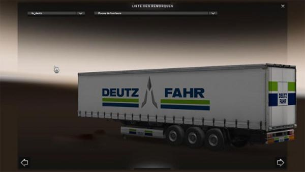 Deutz Fahr trailer
