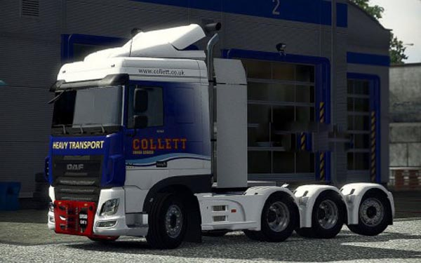 Heavy Haulage Chassis addon for DAF XF Euro 6
