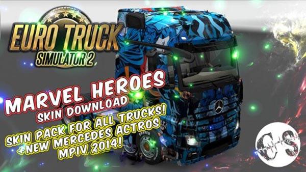 Marvel Heroes Skin Pack for All Trucks