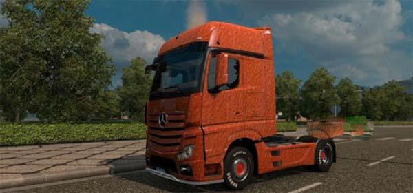 Mercedes Actros 2014 Orange Plastic skin