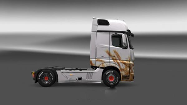 Mercedes Benz Actros MP4 Wheat Skin