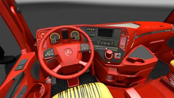 Mercedes Benz Red Leather Interior
