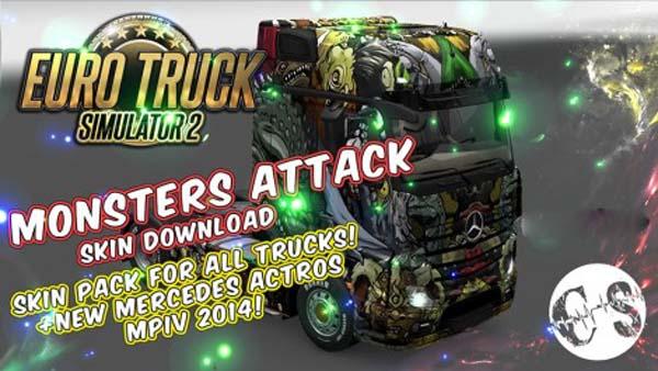 Monsters Attack Skin Pack for All Trucks