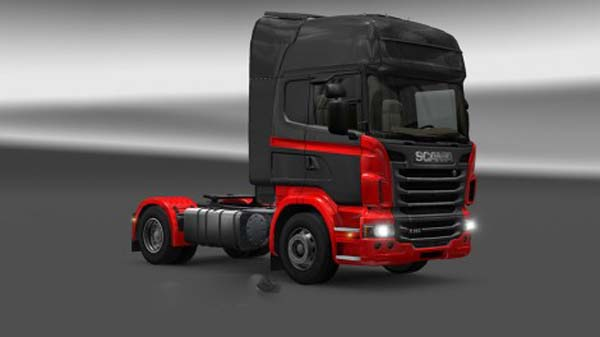 Scania Black Red Skin