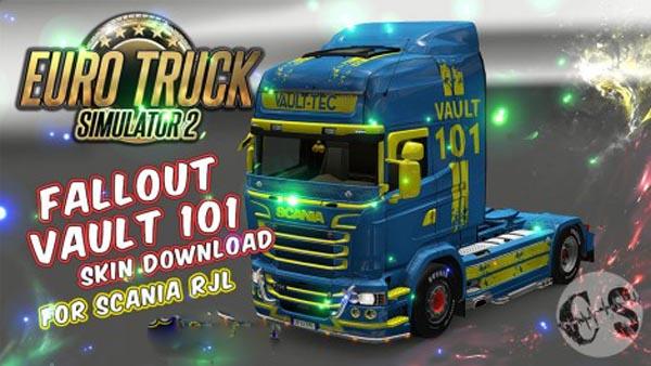 Scania RJL Fallout Vault 101 Skin