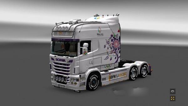 Scania RS EXC Longline RJL Baku 2015 Skin