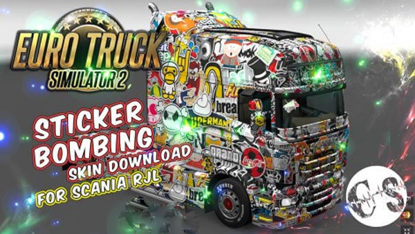 Skin Sticker Bombing for Scania RJL