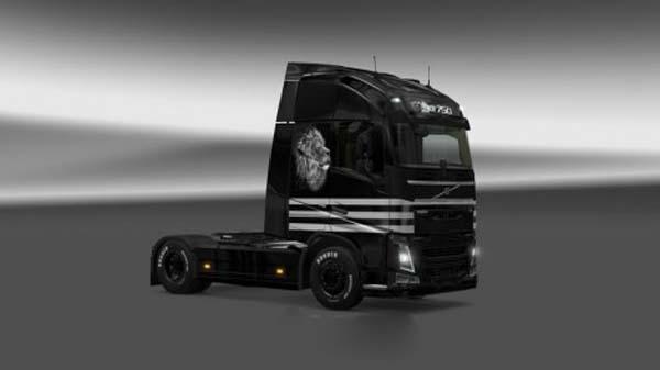 Volvo FH 2012 Black Lion Skin