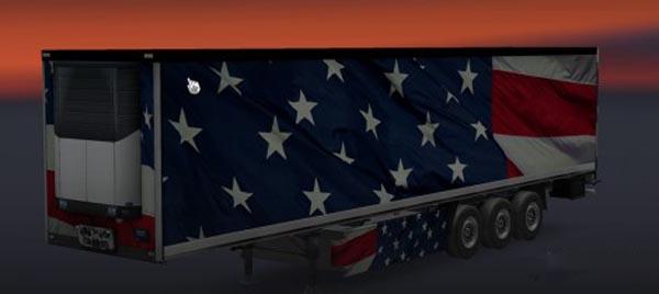American Flag Trailer