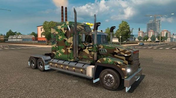 Army Camo skin for Mack Titan