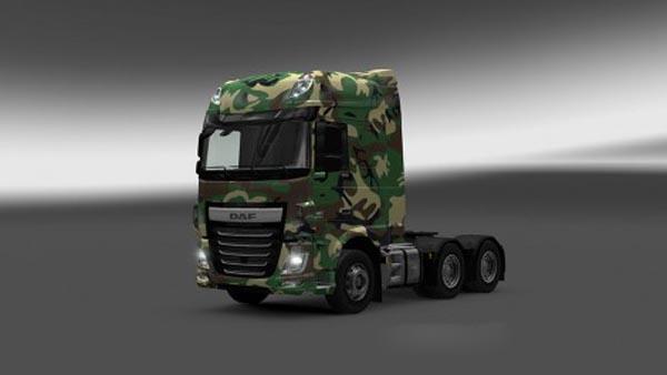 DAF XF Euro 6 Army 2 Skin