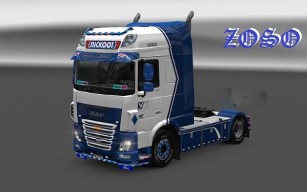 Daf xf e6 (Ohaha) Nickoot internationale koeltransporten skin