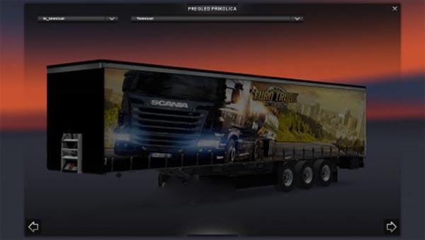 Euro Truck Simlator 2 Trailer Skin