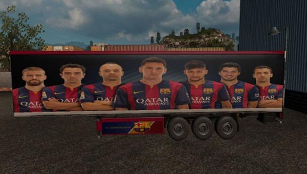 FC Barcelona HD Trailer Skin + Mainfest