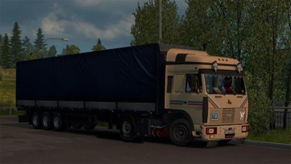 Maz 9758 trailer