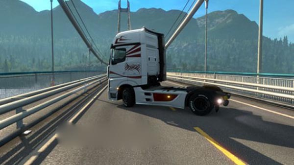 Mercedes Actros 2014 Red Tribal Skin 1.19