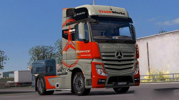 Mercedes Actros MP4 2014 Truck Works Skin