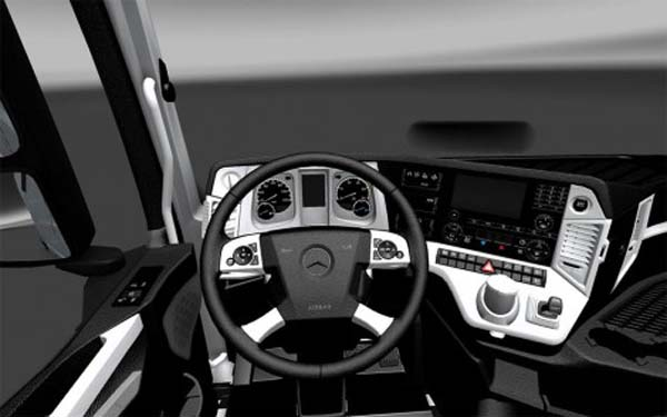 Mercedes Benz mp4 interior black white