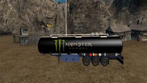 Monster Energy Cistern Trailer Skin