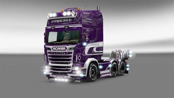 Purple SCANIA RJL