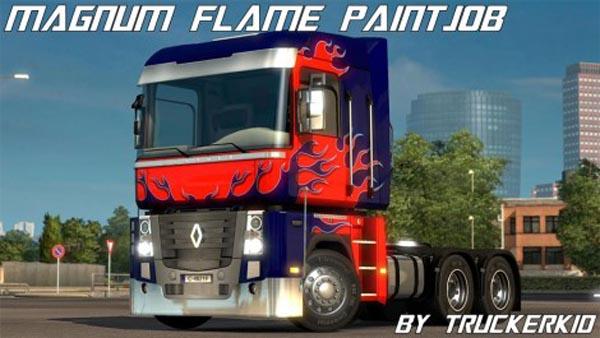 Renault Magnum Flame Paint Job