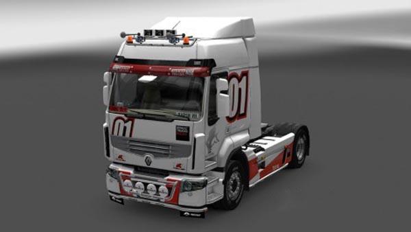 Renault Premium Racing white Skin