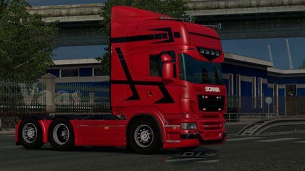 Scania GTM Black Fire Skin