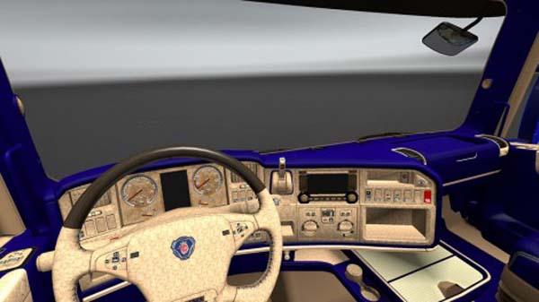Scania OFR Blue Interior
