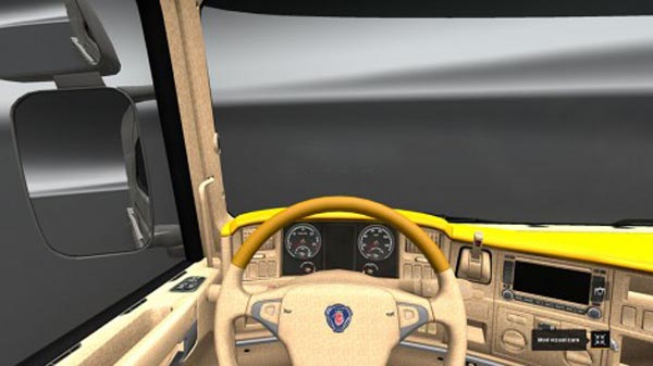 Scania R Yellow Interior