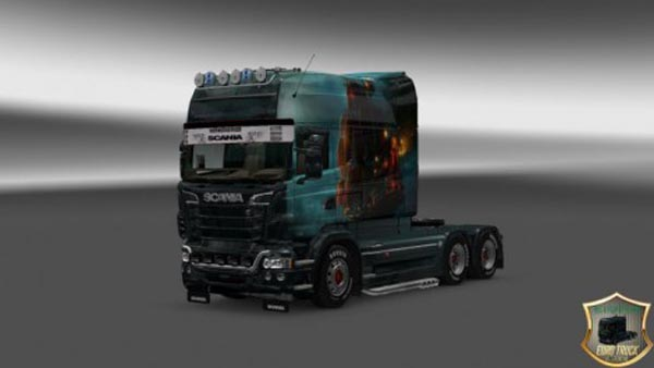Scania RJL Longline EXE Ship Skin