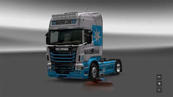Scania RJL Topline Maersk Line Skin