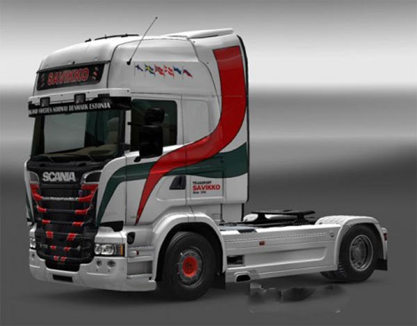 Scania RJL Transport Savikko Skin