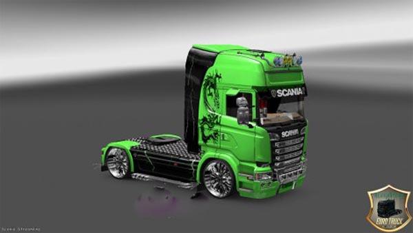 Scania Streamline Green Dragon Skin