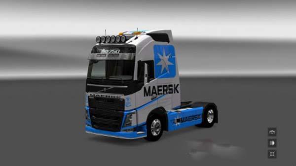 Volvo FH 2012 Maersk Line Skin