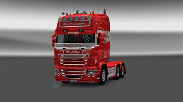 West Star skin for Scania Rjl V1.4