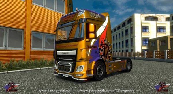 DAF XF Euro 6 TZ Express Skin